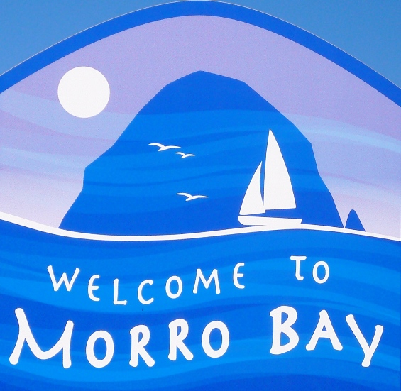 Janeen Burlingame Welcome to Morro Bay sign.JPG